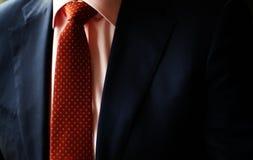 Kostium i czerwony krawat Obraz Royalty Free