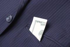 Kostium Jack Z pieniądze W kieszeni Fotografia Stock