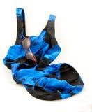 kostium kąpielowy okulary przeciwsłoneczne Obrazy Stock