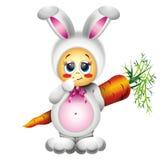 kostium królika dziecko royalty ilustracja