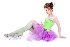 kostiumowa czarodziejska dziewczyna Zdjęcie Royalty Free