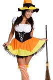 kostiumowa seksowna czarownica Zdjęcia Royalty Free