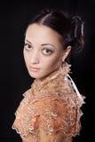 kostiumowego dziejowego portreta stylizowana kobieta zdjęcie royalty free