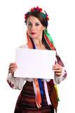 kostiumowego obywatela papieru szkotowa pokazywać kobieta Obraz Royalty Free