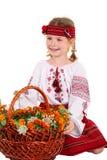 kostiumowej dziewczyny mały krajowy ukrainian Zdjęcia Stock