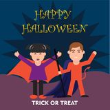 Kostiumowy dzieciak z Halloween pojęciem fotografia royalty free