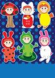 kostiumowy eps dzieciaka sztuka set Zdjęcia Stock