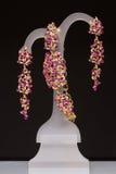 Kostiumowy jewellery Breloczek, kolczyki zdjęcie royalty free