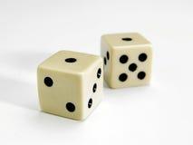 kostka do gry biały Obrazy Stock