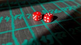 Kostka do gry dla uprawiać hazard Obraz Stock