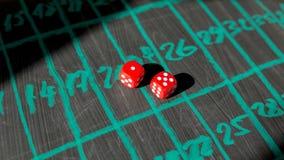 Kostka do gry dla uprawiać hazard Zdjęcie Royalty Free