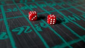 Kostka do gry dla uprawiać hazard Obrazy Stock