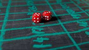 Kostka do gry dla uprawiać hazard Zdjęcie Stock