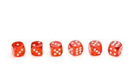 kostka do gry each stawia czoło numerową czerwień up Zdjęcia Royalty Free