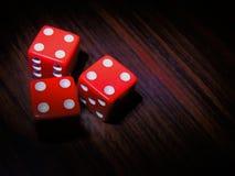 Kostka do gry, gemowy meza dla rozrywki, zakładać się i czas wolny, Obrazy Stock