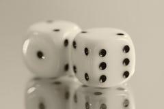 kostka do gry hazard Zdjęcie Stock