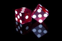 kostka do gry hazard Zdjęcia Stock