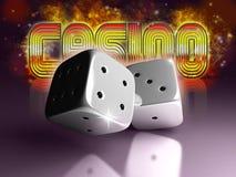 kostka do gry kasynowy znak Fotografia Royalty Free