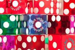 kostka do gry kolorowi las Vegas Zdjęcia Stock