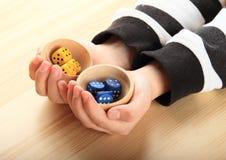 Kostka do gry na palmach Fotografia Stock