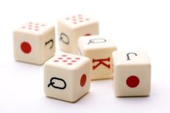 kostka do gry pięć wpólnie obrazy royalty free