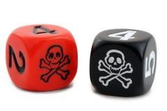 kostka do gry pirat Zdjęcie Royalty Free