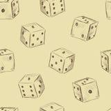 Kostka do gry rocznika bezszwowa tekstura Obrazy Stock