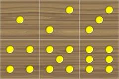 Kostka do gry sześcianu drewniana tekstura ilustracja wektor