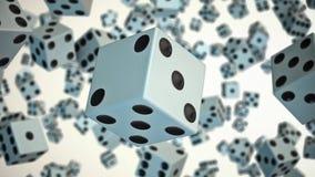 Kostka do gry Unosi się w przestrzeni Przeciw bielowi royalty ilustracja