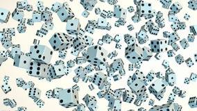 Kostka do gry Unosi się w przestrzeni Przeciw bielowi ilustracji