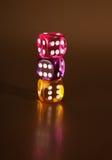 kostka do gry uprawiają hazard ryzyko Obraz Stock