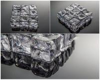Kostka lodu kolaż Obrazy Stock
