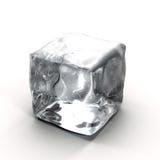 Kostka lodu na białym tle Obraz Stock