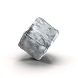 Kostka lodu na białym tle Zdjęcia Stock