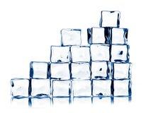 Kostka lodu odizolowywać na biel Fotografia Royalty Free