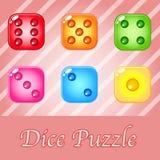 Kostki do gry colourful dla łamigłówki gry ilustracji