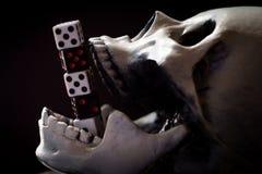 Kostki do gry czaszka Uprawia hazard pojęcie fotografia stock