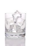 kostki lodu szkła Obrazy Royalty Free