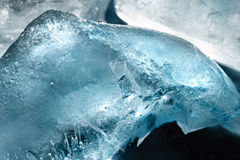 Kostki lodu tekstury tło Zdjęcia Royalty Free
