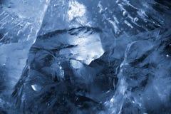 Kostki lodu tekstury tło Zdjęcie Royalty Free