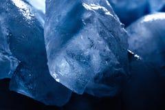 Kostki lodu tekstury tło Obraz Royalty Free