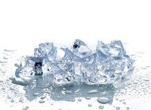Kostki lodu z wodą Fotografia Royalty Free