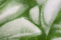 Kostki lodu zamykają up Zdjęcia Stock