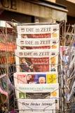 Kostkowy Zeit, Bild, Suddeutsche Zeitung, Neue Burcher Zeitung, Taz a Obrazy Stock