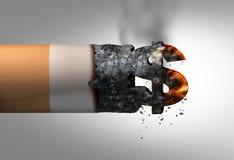 Kostnad av att röka stock illustrationer