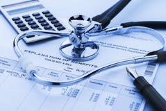 Kostnad av hälsovård Arkivfoton