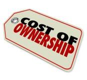 Kostnad av ROI för investering för bra värde för äganderättprislapp Royaltyfri Bild