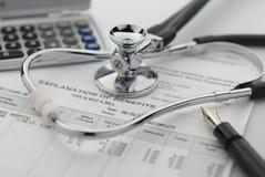 Kostnad av sjukvård Royaltyfri Bild