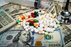 Kostnad-defocused begrepp för hälsovård Royaltyfri Bild