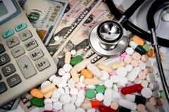 Kostnad-defocused begrepp för hälsovård Royaltyfri Fotografi